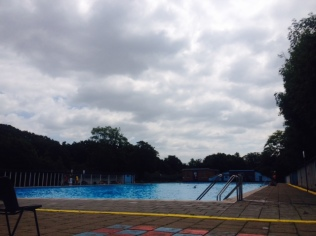 Tooting Bec Lido is 92m long and always a bit colder than the other lidos and lakes in London so good training location
