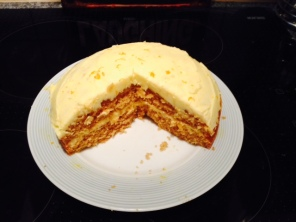 Orange cake after Tom and I had tucked into it!