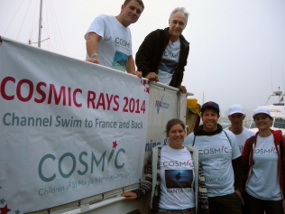 Team COSMIC Rays swimmers and crew