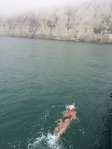 Swimming towards the White Cliffs of Dover