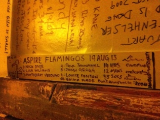 Flamingo's Scribble on the walls of the White Horse