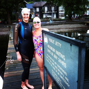 Kate & I at the start jetty in Ambleside