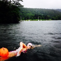 Swimming in the rain
